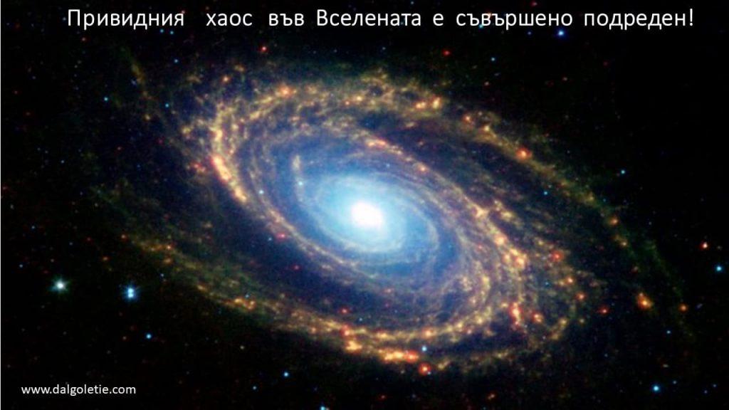 Привидния хаос във Вселената е съвършено подреден